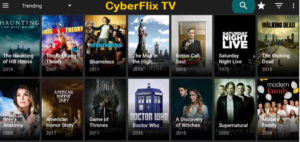 CyberFlix TV APK Installed on PC