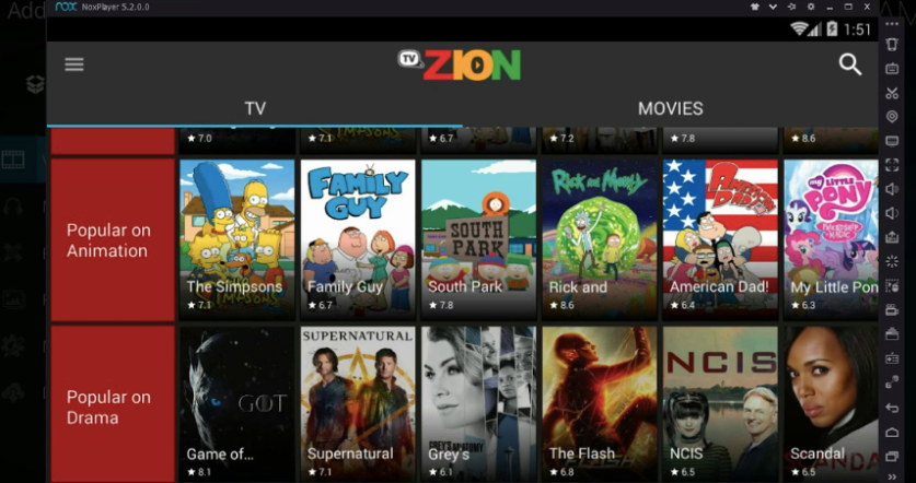 TVZion App Download on PC - Features