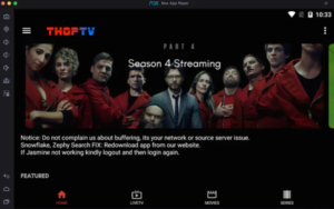 Movies & TV Shows with ThopTV App on PC