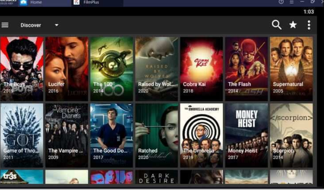 Watch Movies & TV Shows of FilmPlus APK on PC